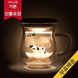 [빛가든]젖소컵 마리모