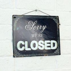 빈티지 도어 사인 we are closed