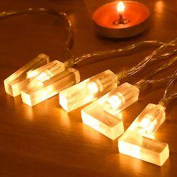 LED 윌유메리미알파벳 건전지 전구 가랜드 [웜]