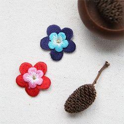 입체 꽃 자수 와펜(1set-2개)