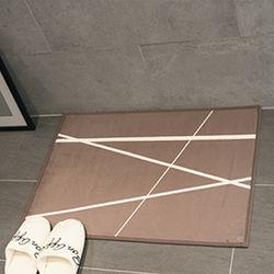 프리미엄 초극세사 매트 - 오빌리크브라운(70x50cm)
