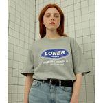Loner twofold tshirt-gray