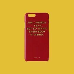 SUB Phone case - WEIRD. Red