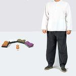 [남녀공용]자수포인트 티셔츠&바지-면20수-8color