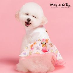메종드독 나비 애견한복 강아지옷