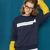 BAND PRINT SWEAT SHIRT navy