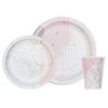 핑크마블 종이접시 종이컵 세트