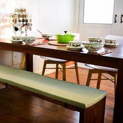 벤치의자방석 100x35x3cm 라텍스 대식탁 롱매트  패드
