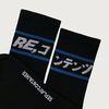 blue line socks (black)