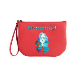 HALF MOON POUCH RED