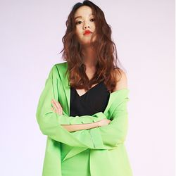 light green jacket