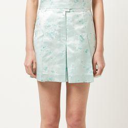 floral pattern silk shorts