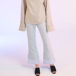 brocade trimming silk pants