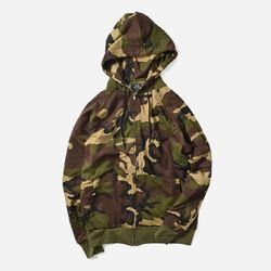 CAMO THERMAL LINED HOODED SWEATSHIRT