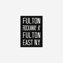 NYC 서브웨이 사인 포스터 (FULTON) - A4