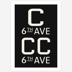 NYC 서브웨이 사인 포스터 (CCC) - A1