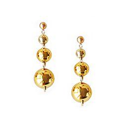 Merry Gold Shine Ball Earrings (Long)