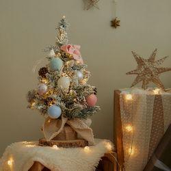 크리스마스 트리 풀세트 눈꽃파스텔 전구포함