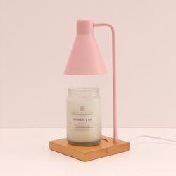 [무료배송] 디어 캔들워머 무드등 [우드타입]_핑크