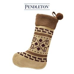 [PENDLETON] 펜들턴(ACC) 산타양말 트리장식 브라운
