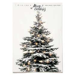 패브릭 포스터 F139 인테리어 액자 크리스마스 트리 [중형]