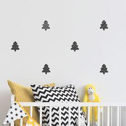 북유럽 패턴 트리 크리스마스 데코스티커(A사이즈)
