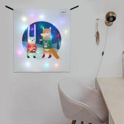 겨울친구들 LED 패브릭 액자 벽트리 (S)