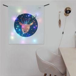 밤하늘루돌프 LED 패브릭 액자 벽트리 (S)