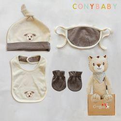 [CONY]오가닉유아용품5종세트(소품4종+아기황호인형)