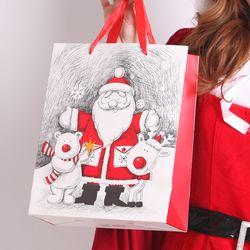 크리스마스 산타 쇼핑백 (대) 랜덤