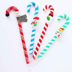 크리스마스 지팡이 볼펜-눈사람랜덤