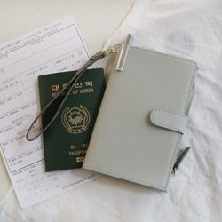 D.LAB DH88 (안티스키밍) Passport Wallet - Gray
