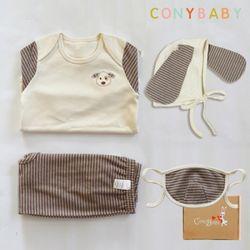 [CONY]오가닉강아지띠맞이선물세트(의류3종+마스크)