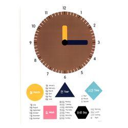 simple paper clock