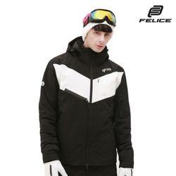 [지프로그] 스핀 스키 보드복 자켓 블랙화이트 공용