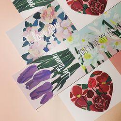 PP POSTCARD- a flower of love 4종 택1