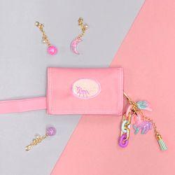 무지개 유니콘 키링+유니콘 밸크로 지갑 (핑크)