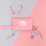 [클리어런스] 무지개 유니콘 키링+유니콘 밸크로 지갑 (핑크)