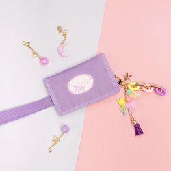 무지개 유니콘 키링+유니콘 밸크로 지갑  (바이올렛)
