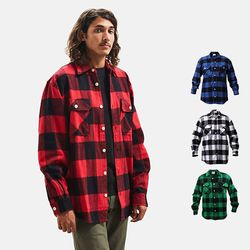 Extra Heavyweight Flannel Shirts 4 color
