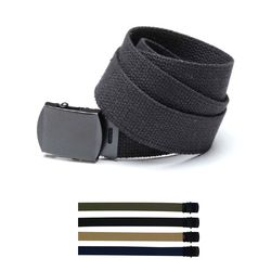 WEB BELT BLACK BUCKLE (5 COLORS)