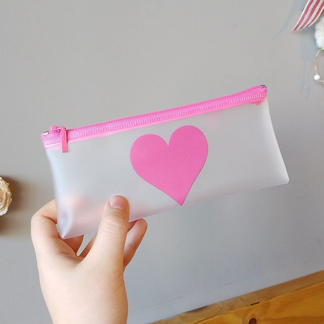 Simple Heart PVC Multi Pouch