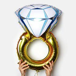 다이아몬드반지 은박풍선 브라이덜샤워 프로포즈소품