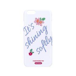 하드케이스 로맨틱 복숭아(화이트) 아이폰6+&6S+