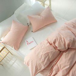 자연염색60수 핑크 피그먼트 침구 퀸세트