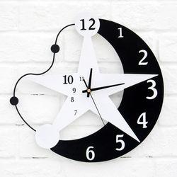 에코벨 인테리어 무소음 별이빛나는밤에 벽시계/시계