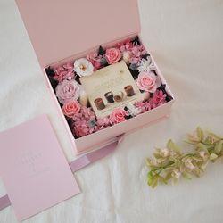 프리저브드 핑크 로즈 박스 - ONLY BOX