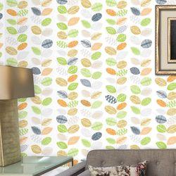 포인트벽지시트지 잎사귀친구들 (HWP-21483)