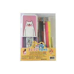 문구종합선물세트(핑크 곰매직하우스)