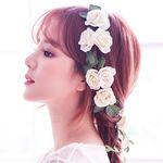 오하라 로즈 꽃 화관 웨딩헤어밴드